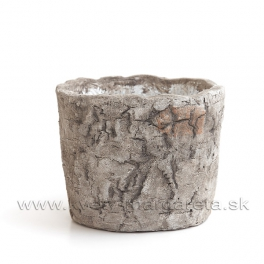 Obal okrúhly cement Brezová kôra 11cm