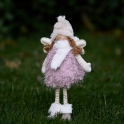 Dievčatko anjelik strapaté leskymo rúžové 33cm