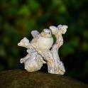 Vrabec na žaluďoch biela Antik patina 12cm