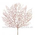Vetva Koral s glitrom ružová 73cm
