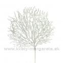 Vetva Koral s glitrom biela 73cm