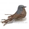 Vtáčik Tweedy na štipci krátky prútený chvost hnedo-sivý 10cm