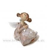 Anjelik bosý sediaci s drdolmi hnedý 5cm