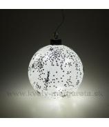 Sklenená guľa hviezdna obloha LED biela 12cm