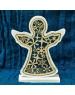 Vianočný anjel Drevený vyrezávaný natur 17cm