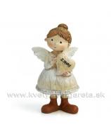 Anjelik s drdolom srdiečko Z lásky 11cm