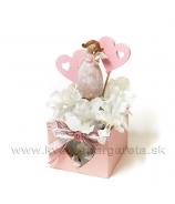 Anjel so srdcom Valentínsky aranžmán 19cm