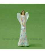 Anjel kvetinové farebné šaty srdce na hrudi 16cm