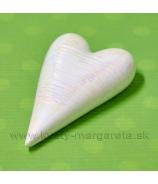 Srdiečko porcelánové rúžová perleť s glazúrou 12x7.5 cm
