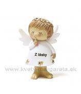 Anjelik S tajomstvom Z lásky biely 7cm