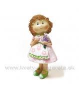 Dievčatko v zástere Levander stojaca 11cm