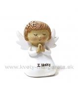 Anjelik Modliaci sa Z lásky kľačiaci 6cm