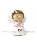 Anjelik Modliaci sa Z lásky kľačiaci biely 6cm