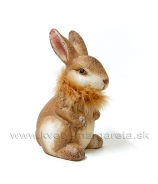 Zajačik Kožúšok sediaci 22cm