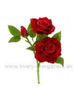 Stonka ruží 2 kvety 1 púčik 37cm