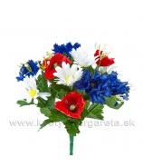 Kytica poľných kvetov v národných farbách 34cm