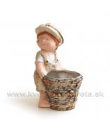 Chlapček Záhradníček s črepníkom 25cm