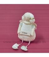 Tylda Z lásky s drdolmi visiace nohy biela 22cm