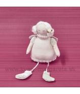 Tylda s drdolmi visiace nohy ružová 22cm