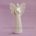 Anjel dlhé vlasy biely 25cm