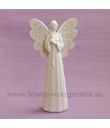 Anjel dlhé vlasy krémový 25cm