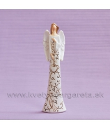 Anjel Prianie Ornament visiace srdce 15cm