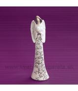 Anjel Srdce na hrudi Ornament 21cm
