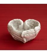 Anjelské krídla Miska v tvare srdca červené 15 cm