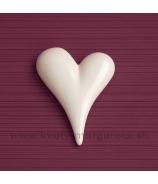 Srdce asymetrické biele 12cm