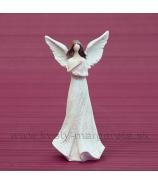 Strážny Anjel Ružové srdce 10cm