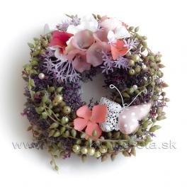 Zdobený Venček hortenzie a  kvety Topoľa 20cm