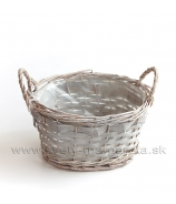 Košík Ovál Sivá patina