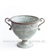 Dekoračná misa Ornament Plech patina oliva 30cm