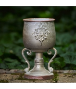 Dekoračný kalich Ornament patina Olive 23cm