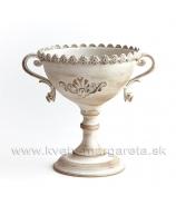 Kalich Ornamenty zlatá patina 23cm