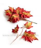 Jesenné listy Vetvička Zápich 40cm