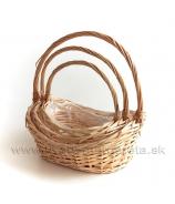 Darčekové košíky Natur set 3ks