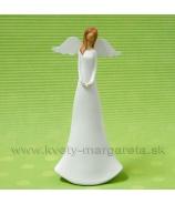 Anjel Plechové krídla biely 18cm
