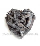 Srdce zo sekaného dreva 24cm