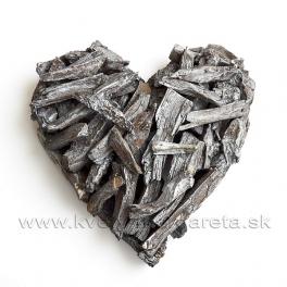 Srdce sekané drevo 27cm