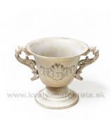 Dekoračná miska Antik dva úchyty zlatá patina 13cm