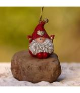 Bradatý škriatok červený záves 5cm