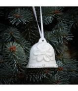 Porcelánový zvonček Kvietok záves - zľava 30% 6cm