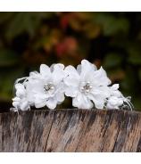 Kvetová prízdoba Dália s perlami - zľava 30% 22cm