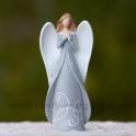 Anjel v kabátci Kresba glitrovaný sivý 16cm