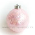 Guľa Bublinky 3D efekt perlová ružová 8cm