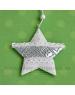 Plechová Hviezda Čipka záves 10cm