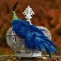 Páv na štipci modrý 60cm