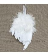 Anjelské krídlo biele záves 25cm