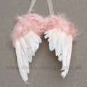 Anjelské krídla glitrované záves ružové 19cm